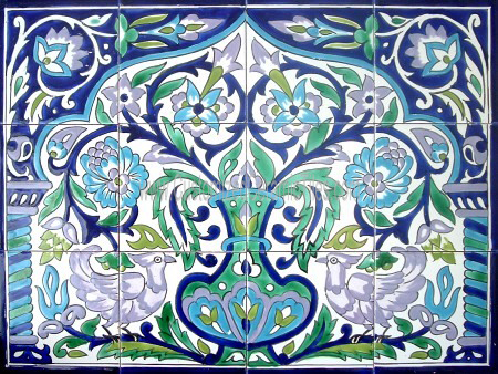 Ceramic Tiles Wall Murals Hand Crafted Mosaic