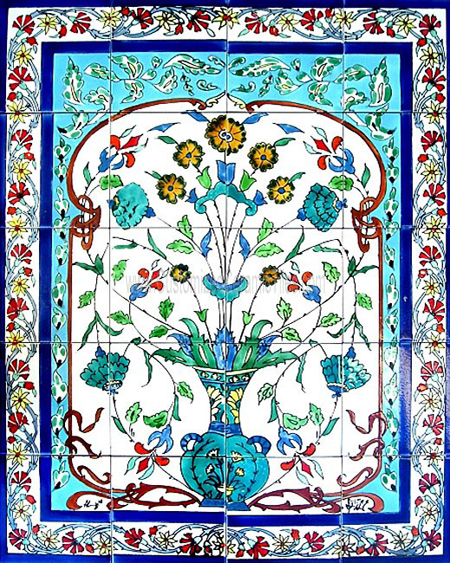 Ceramic tiles decorative murals custom made tiles for Custom mosaic tile mural