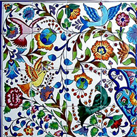 Ceramic tiles exterior tiles decorative murals for Custom mosaic tile mural