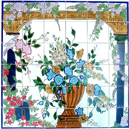 Ceramic tiles custom ceramic tiles wall murals for Custom mosaic tile mural