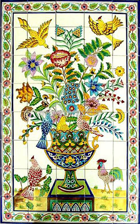 Ceramic tiles customized tiles decorative murals for Custom mosaic tile mural