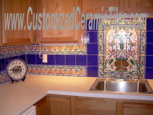 ceramic tile store - full service hand painted motifs on tiles