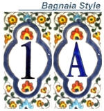 decorative house numbers tile - Decorative House Numbers